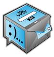 web communications icon vector image