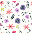 seamless pattern with pastel flowers vector image