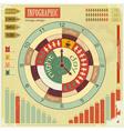 infographics vintage elements vector image