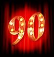 90th anniversary logo vector image vector image