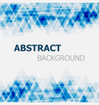 abstract blue triangle overlapping background vector image vector image