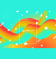 abstract colorful fluid free shape design vector image vector image