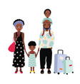 african american family on vacation mother vector image vector image