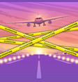 airplane flying in sky concept the vector image