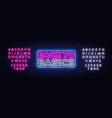 back to basics neon text design template vector image vector image