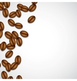 Background with coffee beans vector image vector image
