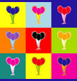 balloons set sign pop-art style colorful vector image vector image