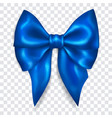 big blue bow vector image vector image