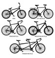 bike types black silhouettes road vector image