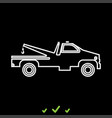 breakdown truck it is white icon vector image