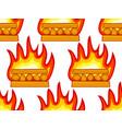 burning wood pattern vector image