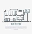 bus station line vector image