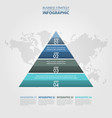 business infographics pyramid steps strategy vector image