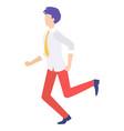 businessman running forward abstract vector image