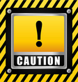 Caution design vector image vector image