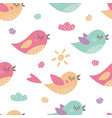 childish seamless pattern with cute birds vector image vector image