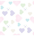 delicate love print pastel seamless pattern with vector image vector image