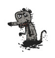 dirty rat comic vector image vector image