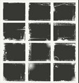 empty gray grunge banner collection vector image vector image
