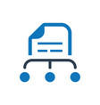file management icon vector image