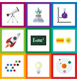 flat icon knowledge set of theory of relativity vector image vector image