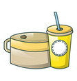 food and drink icon cartoon style vector image