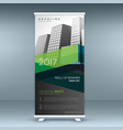 green and black business standee roll up banner vector image