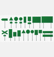 green road sign board direction signs boards vector image