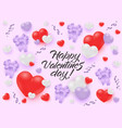 happy valentines day congratulation banner vector image