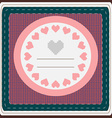 Hearts Valentine Day greeting card vector image