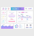 infographic dashboard template modern ui vector image vector image