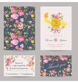 Invitation Congratulation Card Set vector image vector image