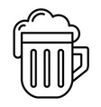 isolated linear black outline beer icon simple vector image