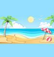 landscape sea beach cut out paper art design