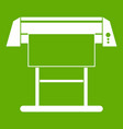 large format inkjet printer icon green vector image vector image