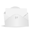 letter and envelope vector image vector image