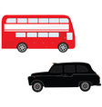 London bus and cab vector image vector image