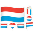 luxembourgish national flag in vector image vector image
