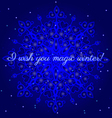 magic winter postcard vector image vector image
