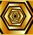 metallic hexagonal in gold colors forming vector image vector image