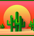 mexican desert flat vector image vector image