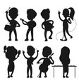 musicians silhouettes isolated on white vector image