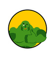 Ogre thumbs up showing well Sign all right Jolly vector image