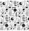 pattern with doodle business background vector image