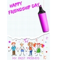 Poster for International Friendship Day vector image vector image