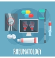 Rheumatology flat icon for healthcare design vector image