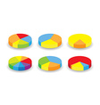 round graphs vector image vector image