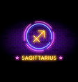 sagittarius in neon style vector image vector image