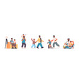 set father spending time with little son parenting vector image vector image