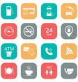 Set of gas station icons Fuel glyph icons Flat vector image